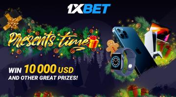 1xBet 선물 타임: $10,000와 수백 가지의 다양한 상품과 장치 당첨 주인공이 되세요!